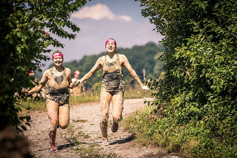 Muddy Angels am Laufen